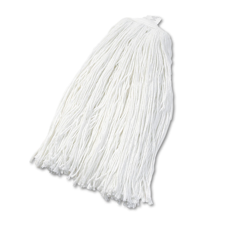 Boardwalk Cut-End Wet Mop Head, Rayon, No. 32, White, 12/Carton