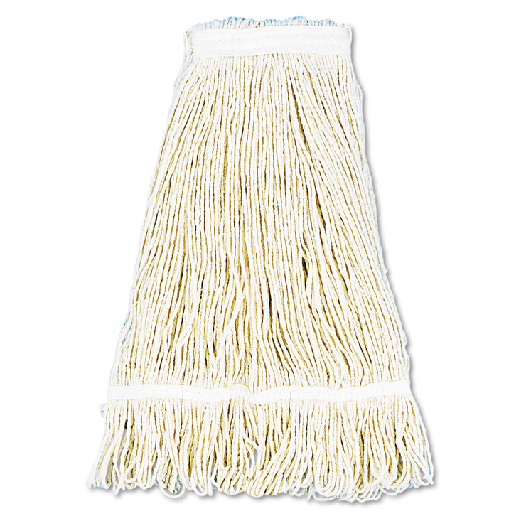 Boardwalk Pro Loop Web/Tailband Wet Mop Head, Cotton, 24oz, White, 12/Carto n