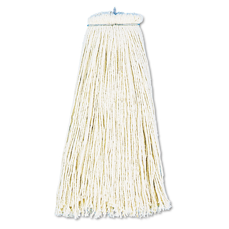 Boardwalk Cut-End Lie-Flat Wet Mop Head, Cotton, 16oz, White, 12/Carton