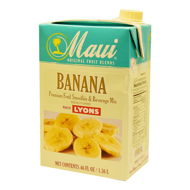 MAUI BANANA FRUIT BLENDS ADD 6/46 OZ MILK FOR SMOOTHIE