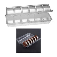Six Pack Clear Hinged Ice Cream Sandwich Container 200/cs