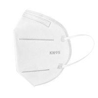 FACE MASK KN95 W/EAR LOOPS  5PLY FILTER 95% FILTRATION   10/BAG