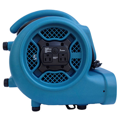 AIR MOVER, 1/4 HP, 1600 CFM, 3.0 AMPS, 3-SPEED, BUILT IN POWER OUTLETS
