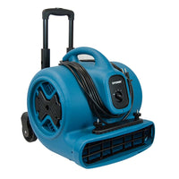 AIR MOVER, 1/2 HP, 2800 CFM, 5.0 AMPS, 3-SPEED, TELESCOPIC  HANDLE & WHEELS, AND CARPET  CLAMP