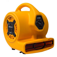 MINI AIR MOVER, 1/5 HP, 800 CFM, 2.0 AMPS, 3-SPEED, BUILT IN POWER OUTLETS