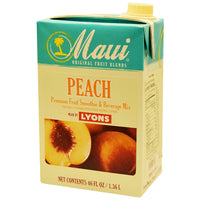 MAUI PEACH FRUIT BLEND ADD 6/46 OZ MILK FOR SMOOTHIE