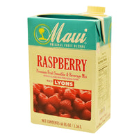 MAUI RASPBERRY FRUIT BLENDS 6/46 OZ ADD MILK FOR SMOOTHIE