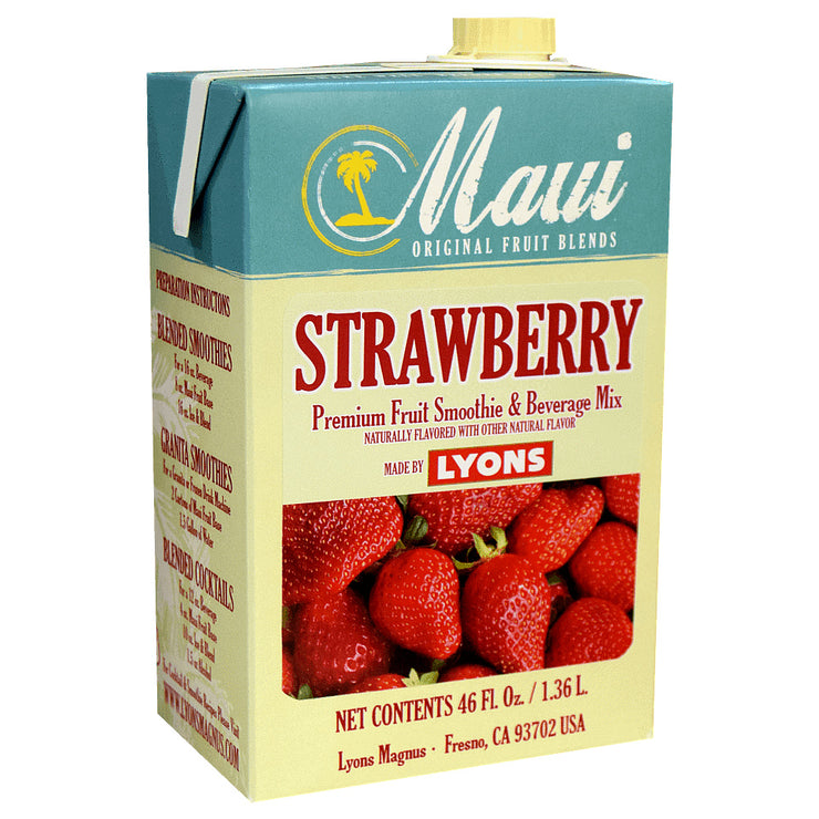 MAUI STRAWBERRY FRUIT BLENDS 6/46 OZ ADD MILK FOR SMOOTHIE