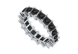 diamond bands p black w majesty band diamonds round half eternity ring