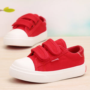 Beautiful Baby Girl and Boy White Canvas Shoes 6 Colors kids Casual Shoes Flat and Durable Toddler Little Girl Sneakers