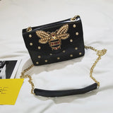 Rhinestones Bee Shoulder Bag