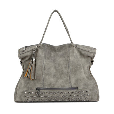 Leather Rivet Large Hand Bag