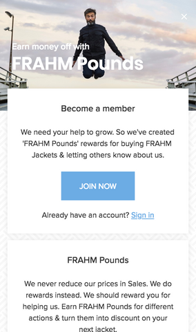 Frahm pounds loyalty scheme