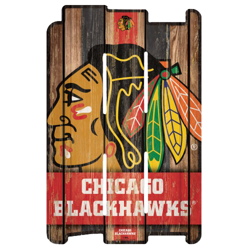 NHL Wood Fence Sign