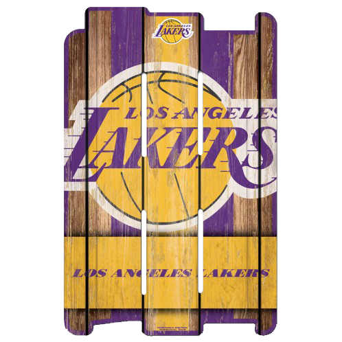 NBA Wood Fence Sign