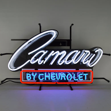 Camaro by Chevrolet Neon Sign with Backing
