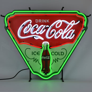 Coca-Cola Ice Cold Shield Neon Sign with Backing