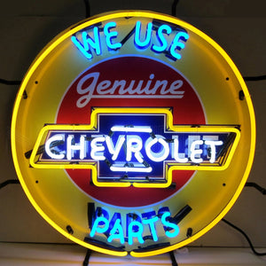 Chevy Parts Neon Sign with Backing