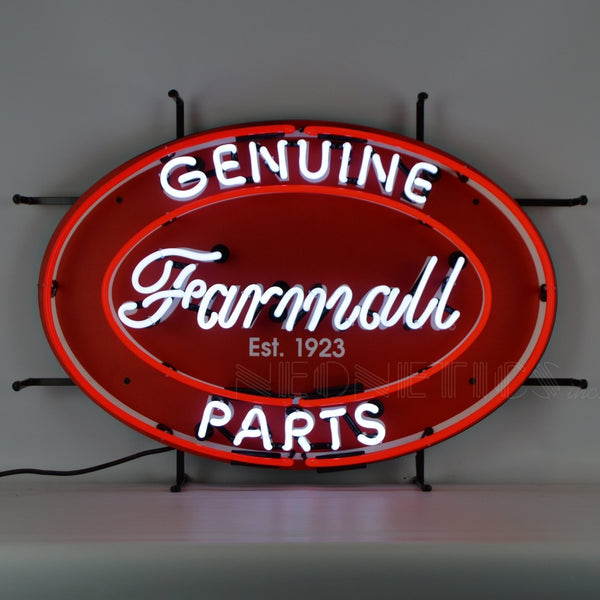 Genuine Farmall Parts Oval Neon Sign