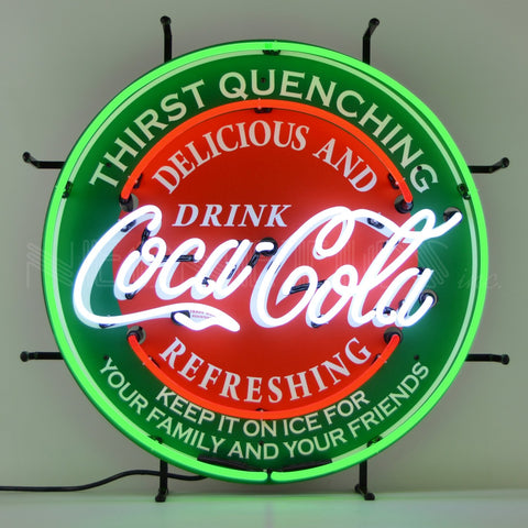 Coca-Cola Evergreen Neon Sign