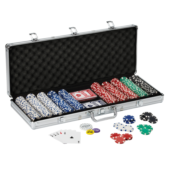 Fat Cat Texas Hold'em Poker Chip Set 500ct.