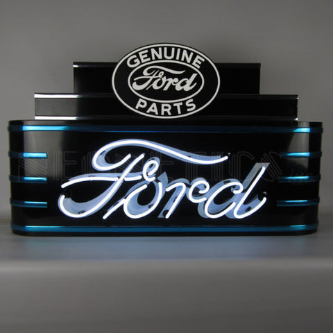 Ford Genuine Parts Art Deco Neon Sign