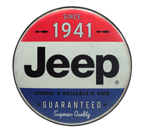 Jeep Tin Button Sign