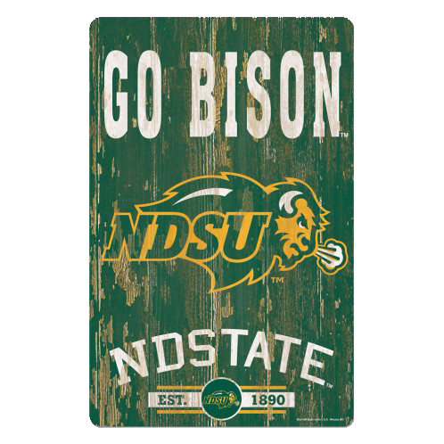 "NDSU ""GO Bison"" Sign"