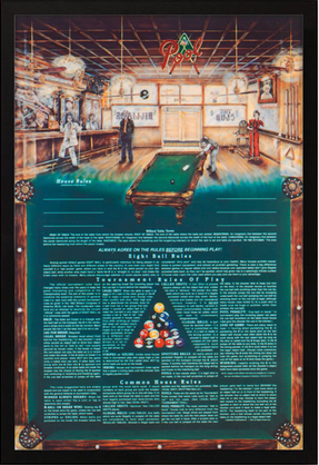 Eight Ball House Rules Framed Artwork