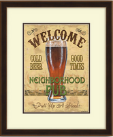 Neighborhood Pub Framed Artwork
