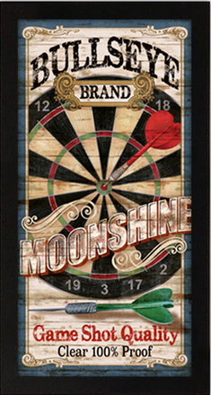 Bullseye Brand Moonshine Artwork