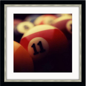 Billiard Balls Framed Photo