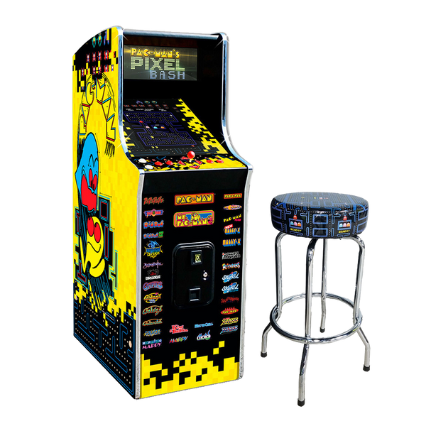"Pac-Man Pixel Bash Home Arcade Game with 30"" Pac-Man Stool"