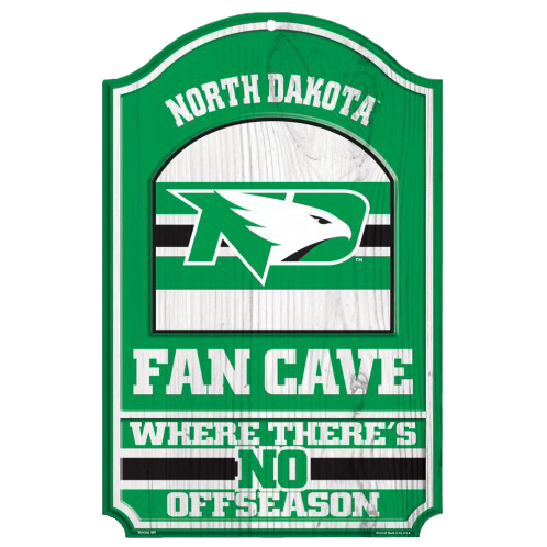 University of North Dakota Fan Cave Sign