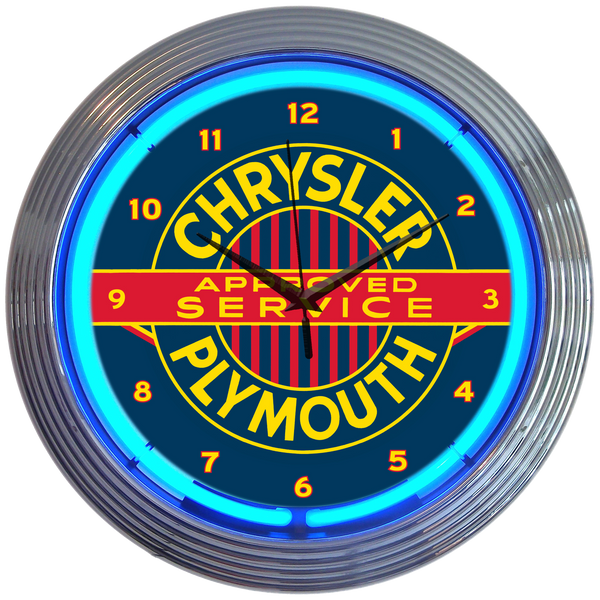 Chrysler Plymouth Gasoline Neon Clock