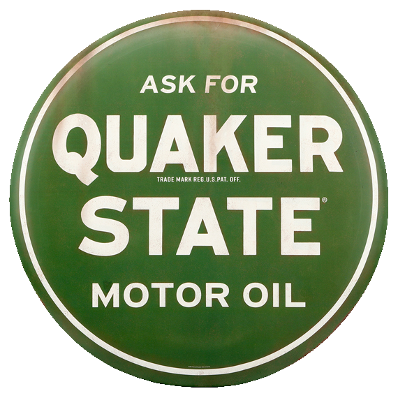 Quaker State Motor Tin Sign