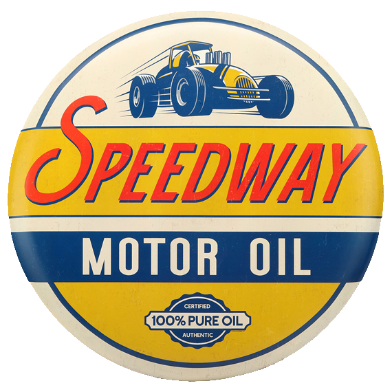 Speedway Motor Oil Tin Sign