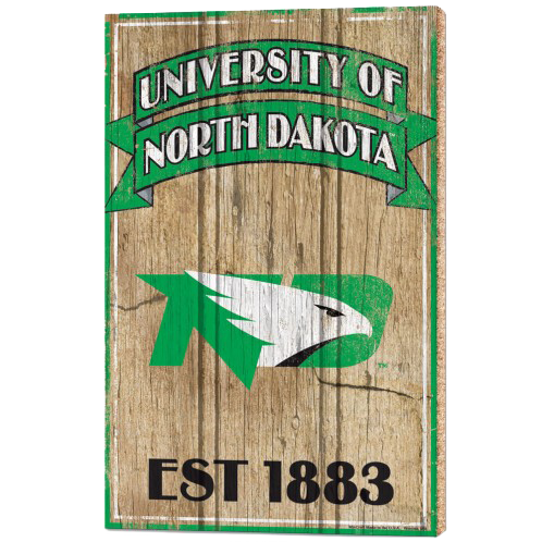 University of North Dakota Wood Sign