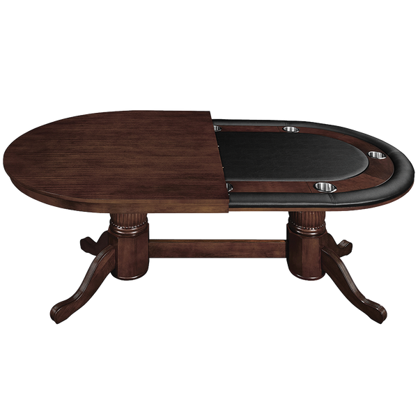 Ram 84 Texas Hold Em Poker Table With Dining Conversion Top Caves