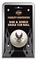 Harley Davidson Bar & Shield Eagle Cue Ball