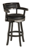 Harley Davidson Bar & Shield Flames Bar Stool w/ Backrest