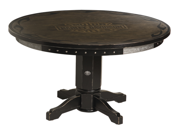 Harley Davidson Bar & Shield Flames Poker Table
