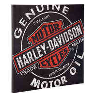 Harley Davidson Oil Can Canvas Print