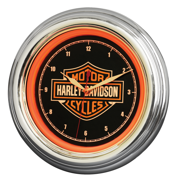 Harley Davidson Bar & Shield LED Clock