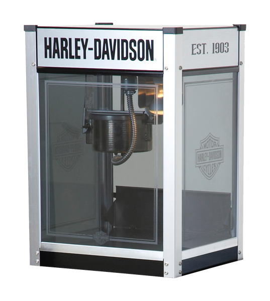 Harley Davidson Metallic Flames Popcorn Machine