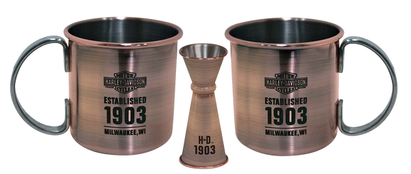 Harley Davidson Moscow Mule Set