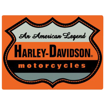 Harley Davidson American Legend Tin Sign