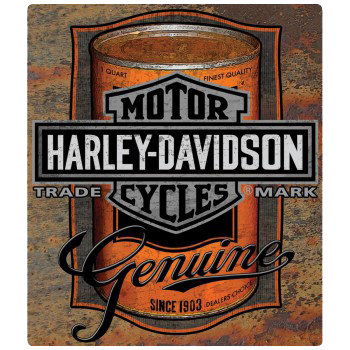 Harley Davidson Can Label Tin Sign