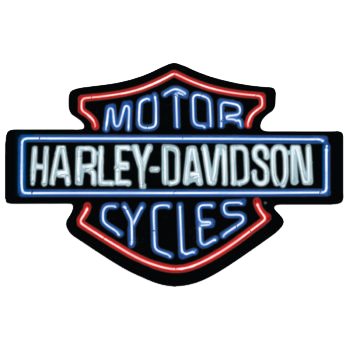 "Harley Davidson ""Neon Lights"" Tin Sign"