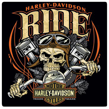 Harley Davidson Ride Tin Sign